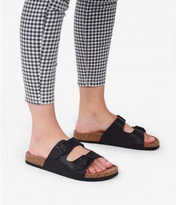 Sandalias planas negras