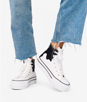 Zapatillas abotinadas de tela