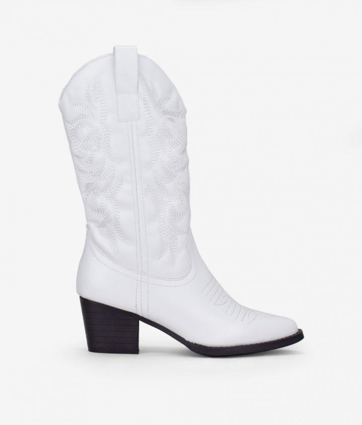 Botas blancas cowboy