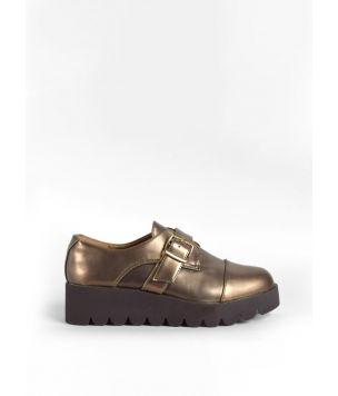 Zapatos cuña hebillas