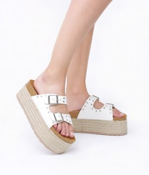 SANDALIA PU 38991 GOLDEN BLANCO