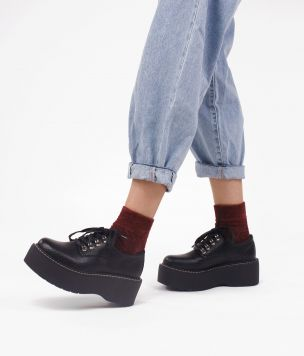 Zapato plataforma PU 39258 GEO NEGRO