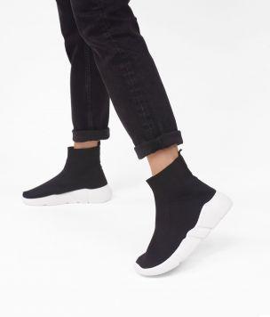 Zapatilla calcetín  TEXTIL 39260 GEO NEGRO