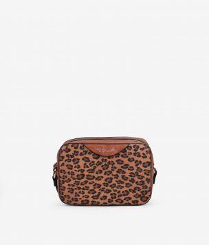 Mini bandolera en leopardo