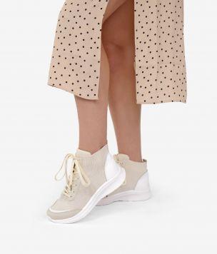 Zapatilla calcetín abotinada