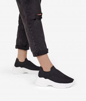 Zapatillas calcetín plataforma