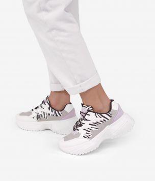 Zapatillas cebra con plataforma