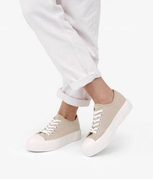 Zapatillas beige plataforma