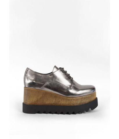 Zapatos piel con plataforma