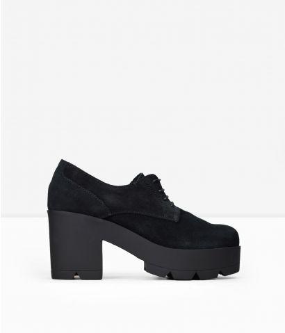 Zapatos plataforma piel