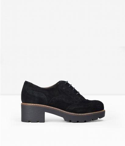 Zapatos cordones piel