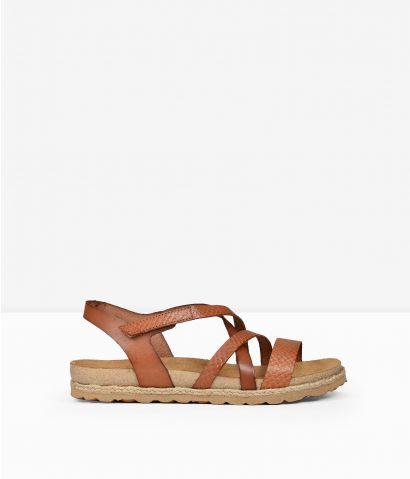 Sandalias marrones piel