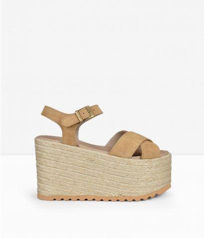 Sandalias piel plataforma maxi