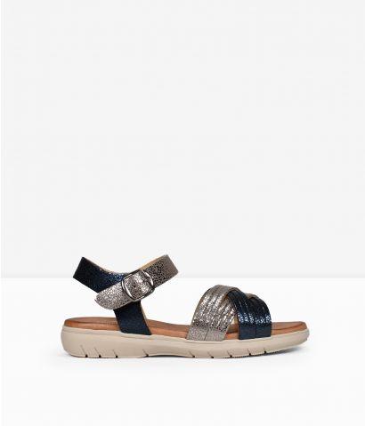 Sandalias piel metalizadas