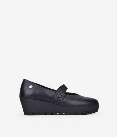 Zapato piel con cuña