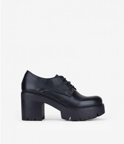 Zapato piel con plataforma