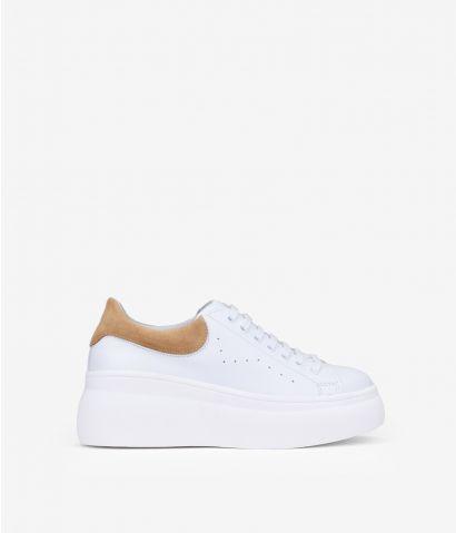 Zapatillas blancas piel