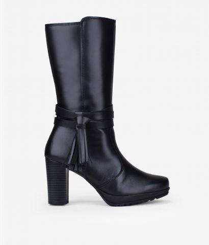 Botas en piel negra