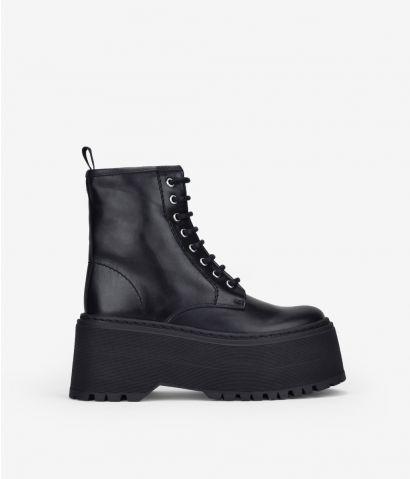 Botas militares en piel XXL