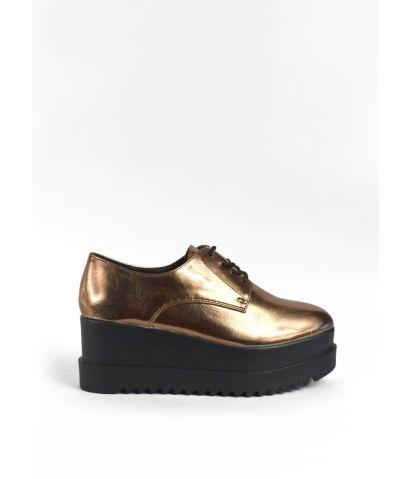 Zapatos metalizados plataforma