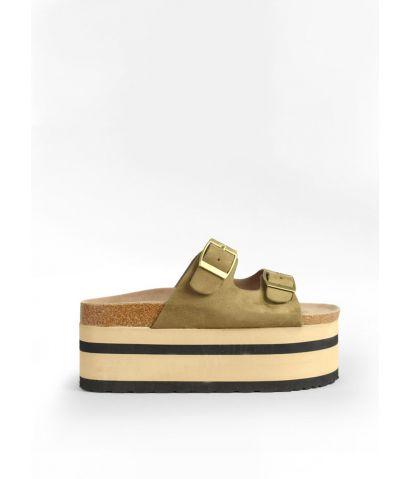 Sandalias de plataforma con hebillas