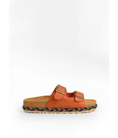 Sandalias planas con suela multicolor