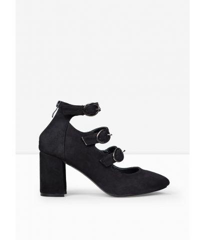 Zapatos negros hebillas