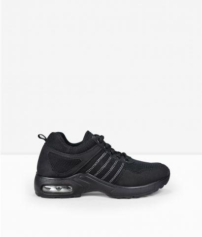 Zapatillas negras cordones