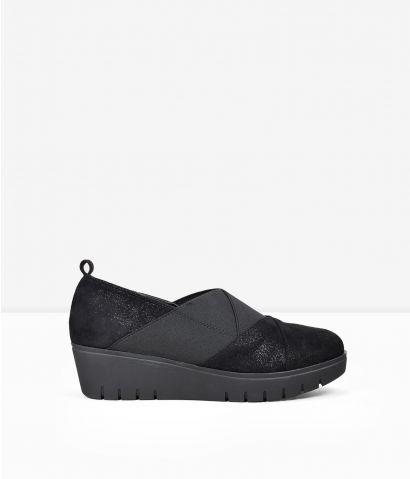 Zapatos cuña elásticos