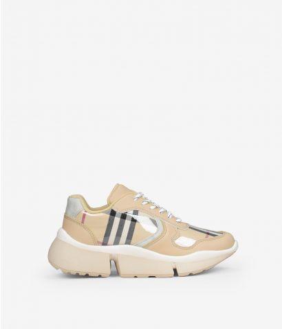 Zapatillas plataforma cuadros