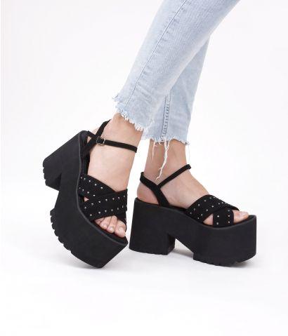 Sandalias negras plataforma
