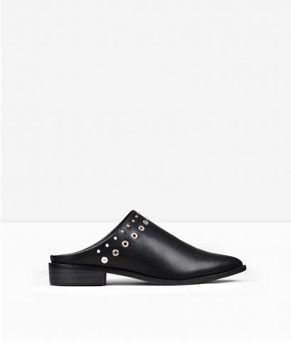 Zapatos planos negros