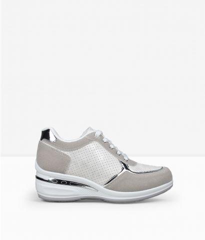 Zapatillas blancas cuña