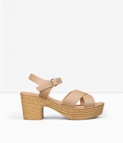Sandalias tacón ancho