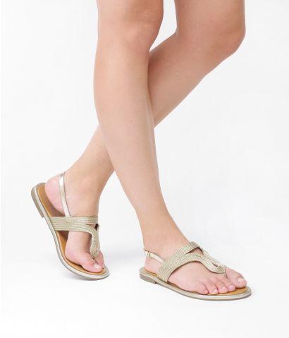 Sandalias planas metalizadas