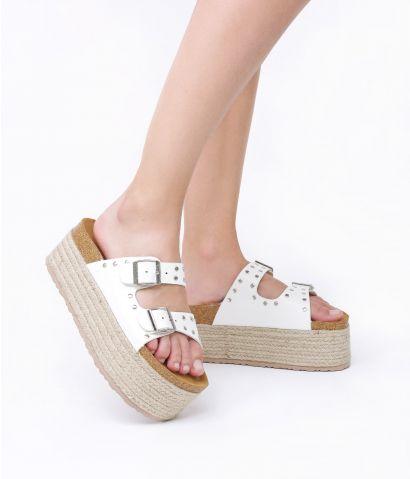 Sandalias blancas plataforma