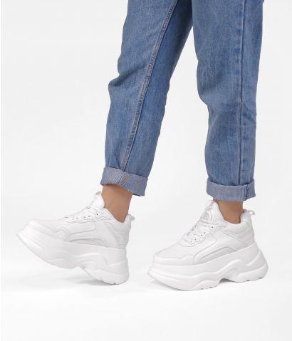 Zapatillas blancas plataforma maxi