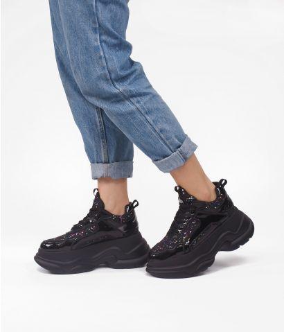 Zapatillas negras plataforma XXL