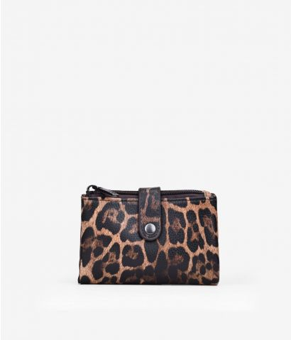 Billetero pequeño en leopardo