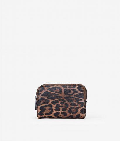 Monedero blando de leopardo