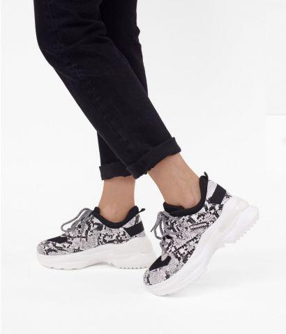Zapatillas serpiente con plataforma