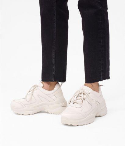Zapatillas beige con plataforma