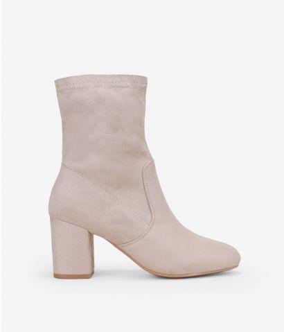 Botines calcetín con tacón