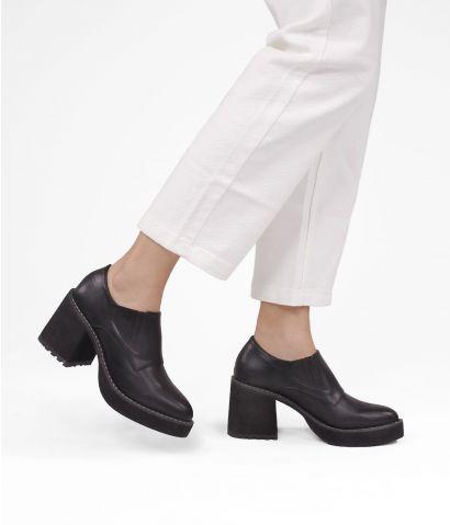 Zapatos negros tacón ancho