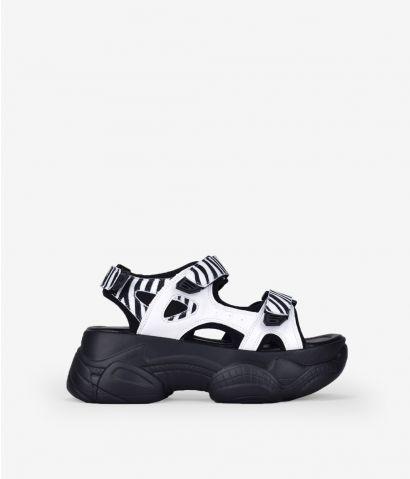 Sandalias deportivas cebra