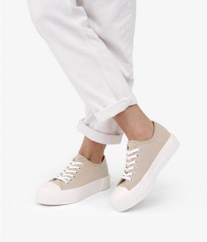 Zapatillas lino plataforma