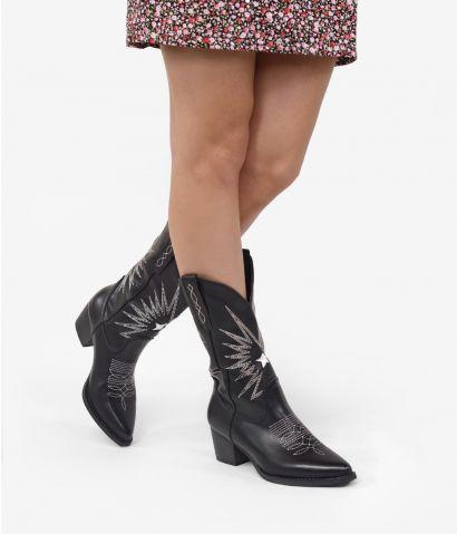 Botas cowboy con bordado