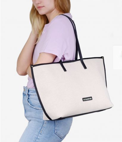 Maxi shopper en canvas
