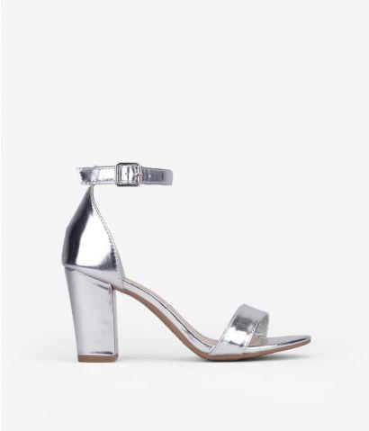 Sandalias metalizadas tacón