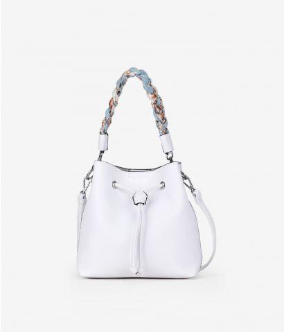 Bolso saco blanco con asa extraíble